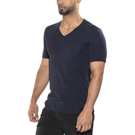 Icebreaker Anatomica SS V-Neck Shirt Men midnight navy